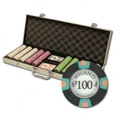 """Poker Set """"Milano"""" 500  (1$ - 1000$)"""
